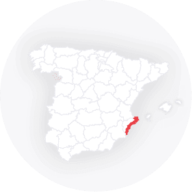 Map outline of  Costa Blanca