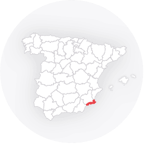 Map outline of  Costa Calida