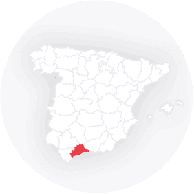 Map outline of  Malaga Province