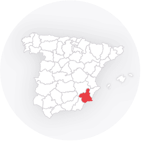 Map outline of  Murcia Province