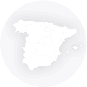 Map outline showing Spain