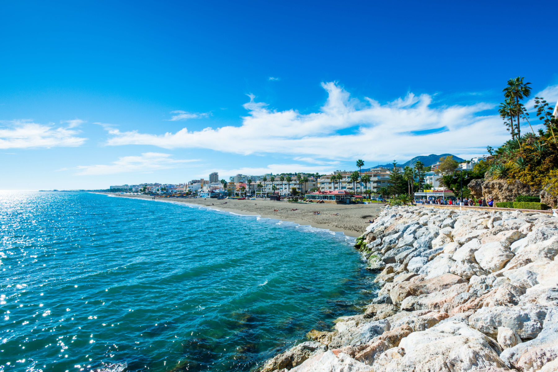 The resort town of Torremolinos