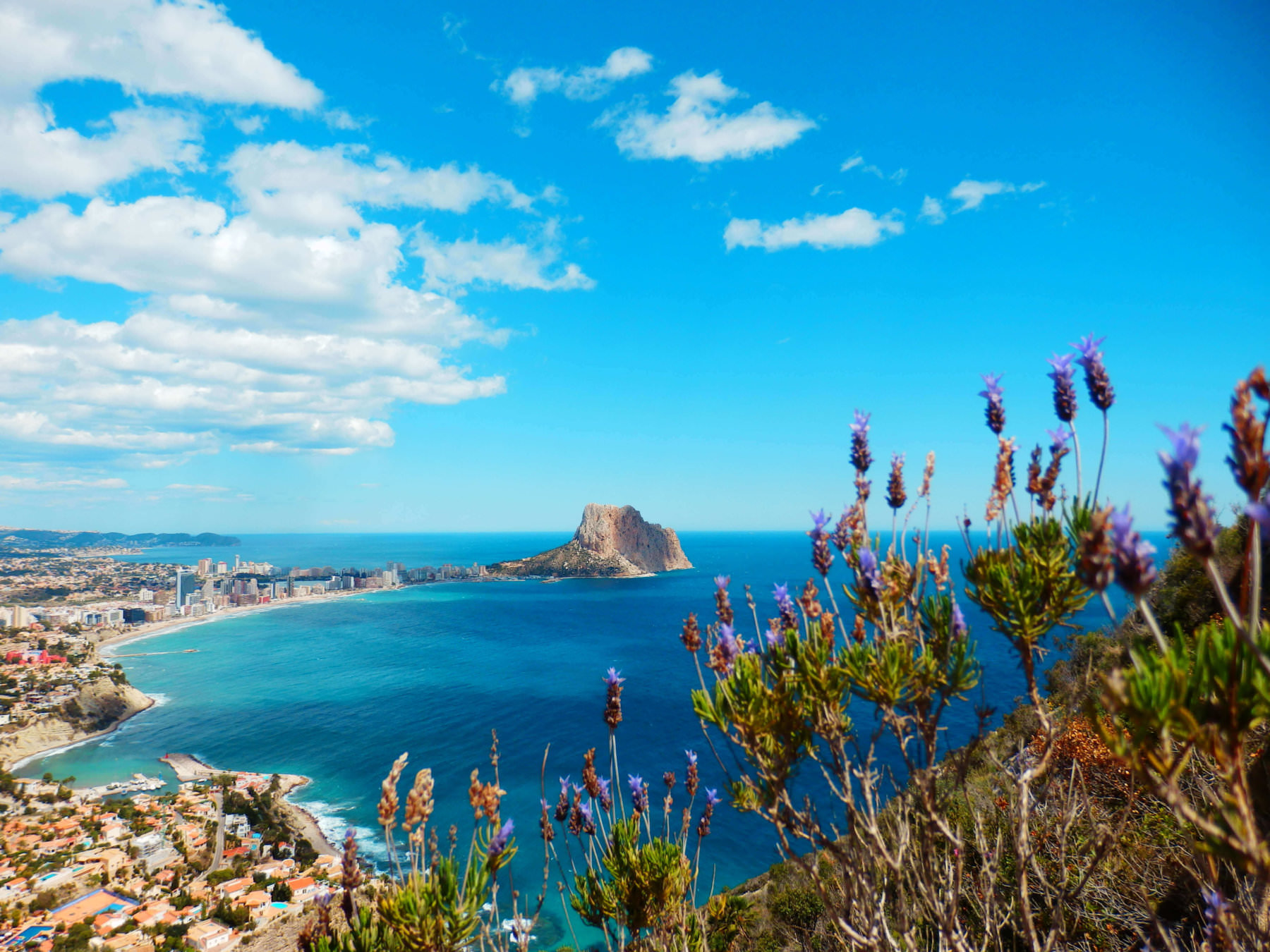 View across Calpe, in Alicante Spain