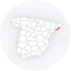 Map outline of  Costa Garraf / Maresme