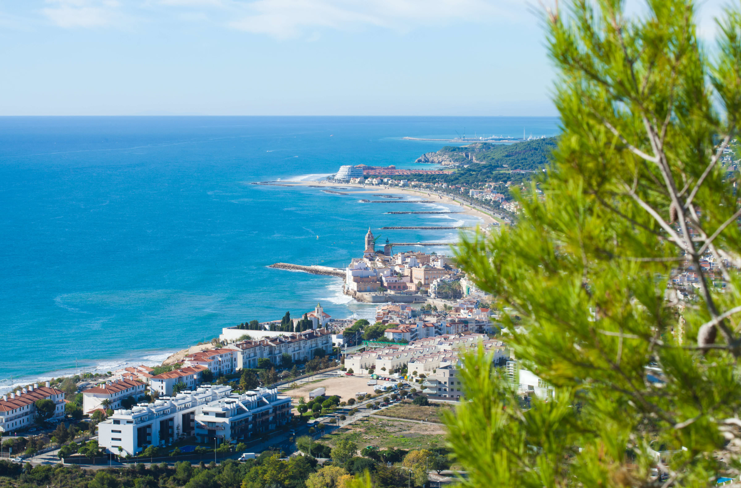 View over Sitges, near Barcelona
