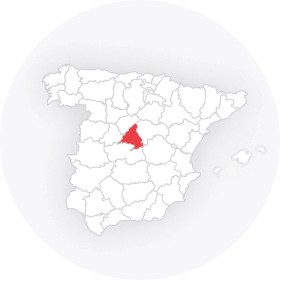 Map outline of  Madrid Province