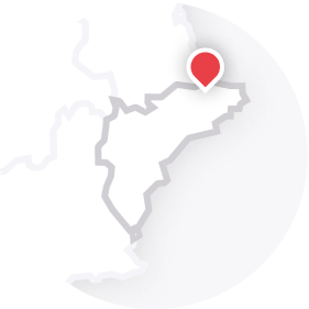 Map outline of  Pego