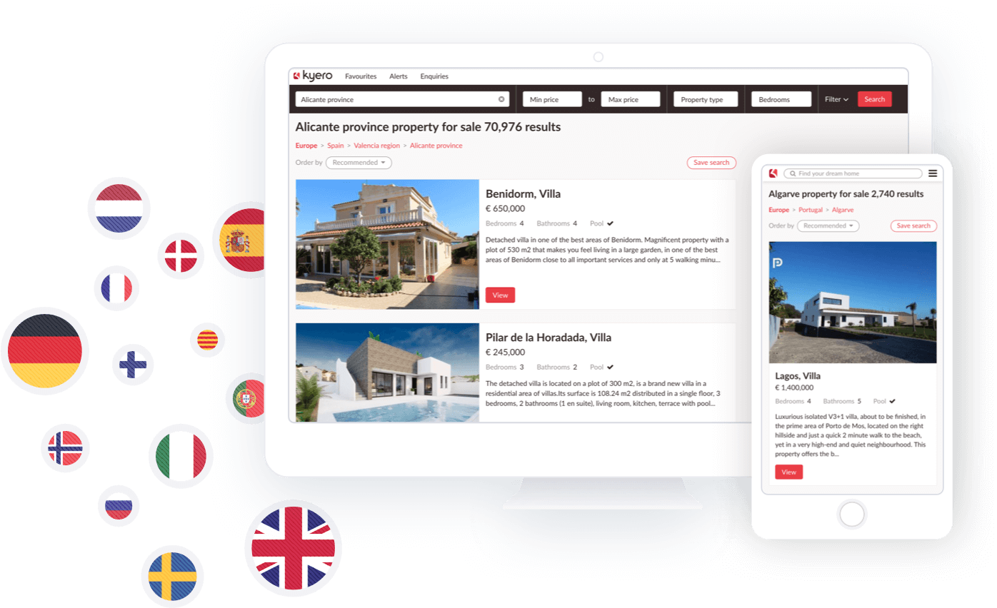 Spanish property portal Kyero.com reaches an international audience