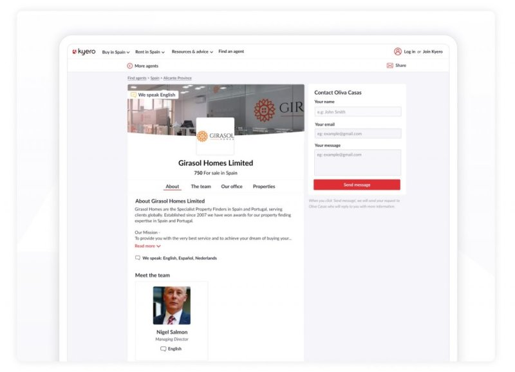 Kyero Agent Directory
